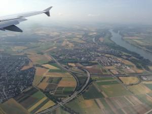 Landing in Frankfurt